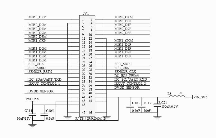 IMX178 Sensor Board Pinout Diagram